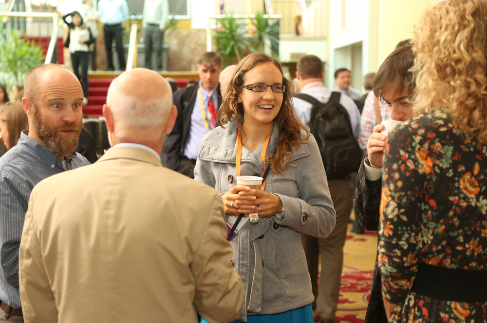 Attendees mingling at Discovery Summit